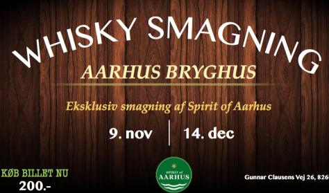 Whisky Smagning på Aarhus Bryghus