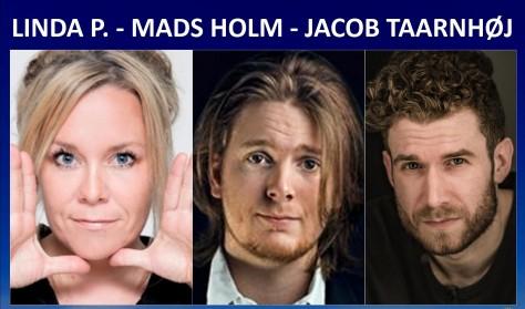 Komikerværkstedet - Linda P, Mads Holm & Jacob Taarnhøj.
