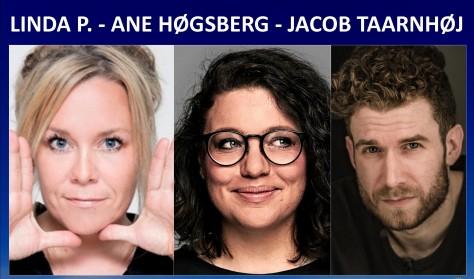 Komikerværkstedet - Linda P, Ane Høgberg & Jacob Taarnhøj.