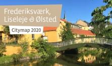 Bykort over Frederiksværk-Liseleje-Ølsted/ Citymap of Frederiksværk