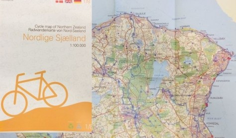 Nordlige Sjælland Cykelkort / Cycle map of North Sealand