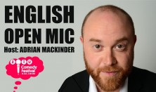 English Open mic - Host: Adrian Mackinder (price: 2-for-1)