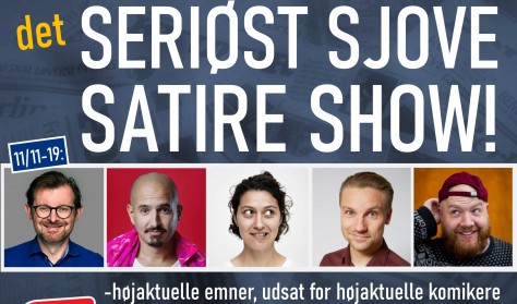 Det seriøst sjove satire show (testaften med optagelse)
