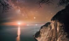 Fuldmånestillevandring på Møns Klint i Dark Sky