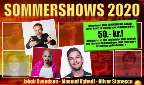 Sommershow med Masoud Vahedi, Oliver Stanescu og Jakob Svendsen
