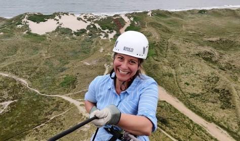 Rappelling / Abseilen am Leuchtturm - Lyngvig Fyr