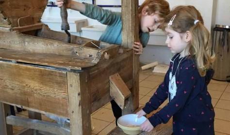 Familieomvisning i efterårsferie i Ringsted Vindmølle